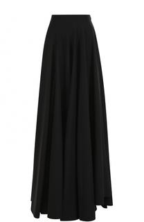 Однотонная шерстяная юбка-макси Alaia