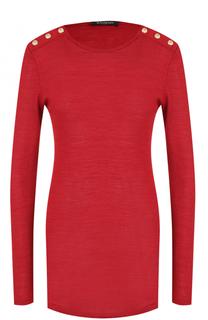 Пуловер из смеси шерсти и шелка Balmain