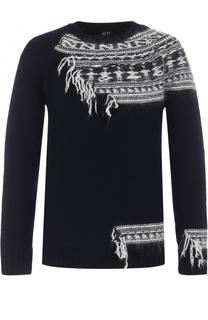 Шерстяной свитер с контрастной отделкой No. 21