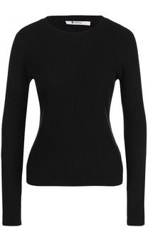 Пуловер фактурной вязки с круглым вырезом T by Alexander Wang