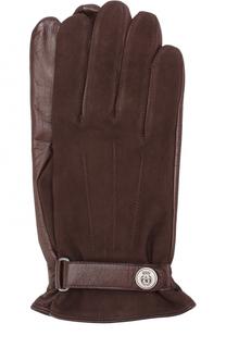 Кожаные перчатки с ремешком Roeckl