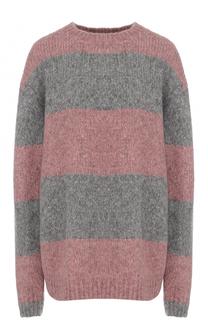 Шерстяной пуловер свободного кроя в полоску Acne Studios