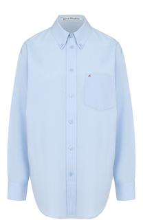 Хлопковая блуза прямого кроя Acne Studios