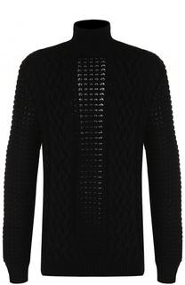 Шерстяной свитер фактурной вязки Balmain