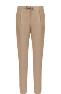 Хлопковые брюки прямого кроя с поясом на кулиске Loro Piana