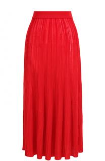 Однотонная жатая юбка-миди Sonia Rykiel