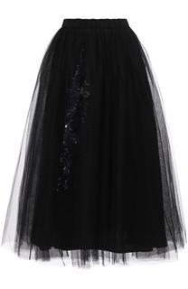 Пышная юбка-миди с вышивкой No. 21