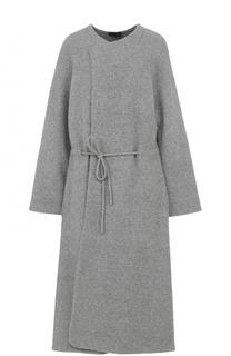 Шерстяное пальто с поясом The Row