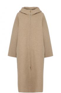 Кашемировое пальто на молнии с поясом The Row