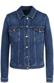 Джинсовая куртка с вышивкой и потертостями Jacob Cohen