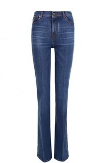 Расклешенные джинсы с потертостями и стрелками Jacob Cohen