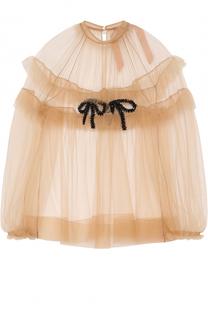 Прозрачная блуза с оборками и вышивкой No. 21