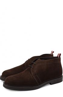 Замшевые ботинки на шнуровке Bally