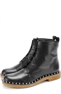 Кожаные ботинки с заклепками на ранте Paloma Barcelo
