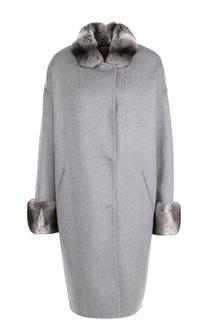 Кашемировое пальто с отделкой из меха шиншиллы Colombo