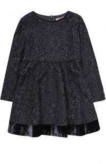 Кружевное мини-платье с бархатной отделкой Ermanno Scervino