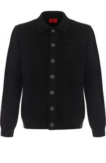 Однобортный хлопковый пиджак HUGO
