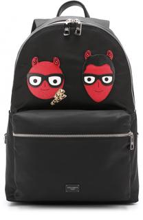 Текстильный рюкзак Vulcano с аппликацией Dolce & Gabbana