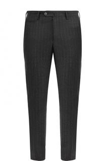Шерстяные брюки в полоску прямого кроя Germano