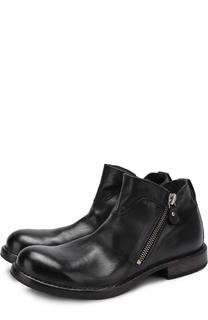 Кожаные ботинки на молнии Moma