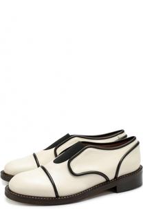 Кожаные ботинки с контрастной отделкой Marni