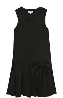 Мини-платье джерси с оборкой и бантом Aletta