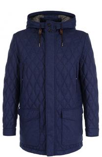 Стеганая куртка на молнии из смеси шерсти и шелка с кашемиром Ermenegildo Zegna