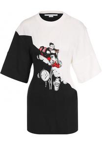 Удлиненная приталенная футболка с принтом Stella McCartney