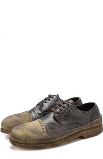 Кожаные дерби на шнуровке с внутренней меховой отделкой Rocco P.