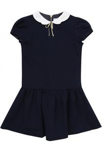 Трикотажное мини-платье с фигурным воротником Tartine Et Chocolat