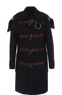 Шерстяной дафлкот с капюшоном Givenchy