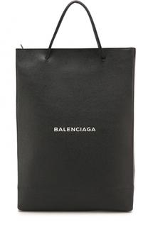 Кожаная сумка-шоппер с логотипом бренда Balenciaga