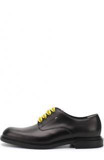 Кожаные дерби с контрастной шнуровкой Fendi