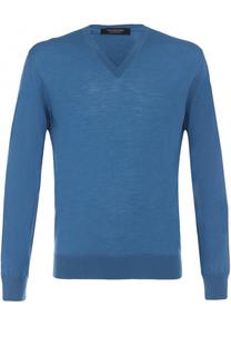 Пуловер из шерсти тонкой вязки Ermenegildo Zegna