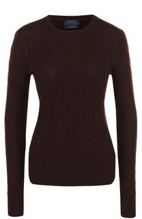 Кашемировый пуловер фактурной вязки Polo Ralph Lauren