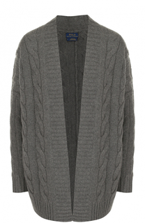 Кардиган фактурной вязки из смеси шерсти и кашемира Polo Ralph Lauren