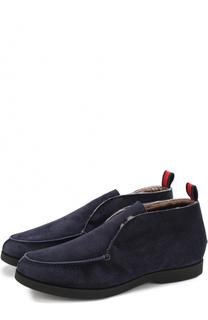 Замшевые ботинки без шнуровки с внутренней меховой отделкой Kiton