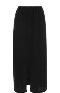 Однотонная шерстяная юбка-миди Tegin