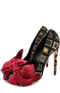 Текстильные туфли Noel с бантом на шпильке Aleksandersiradekian