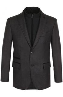 Однобортный шерстяной пиджак с подстежкой Pal Zileri