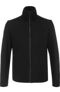 Куртка на молнии из смеси шерсти и кашемира HUGO