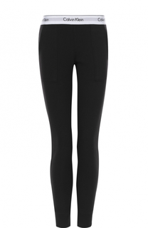 Хлопковые брюки с карманами и логотипом бренда Calvin Klein Underwear