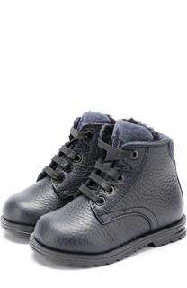 Кожаные ботинки с внутренней меховой отделкой Dolce & Gabbana
