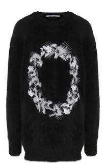 Шерстяной пуловер с контрастной вышивкой Givenchy