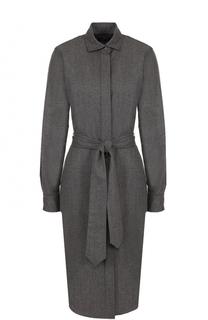 Шерстяное платье-рубашка с поясом Polo Ralph Lauren