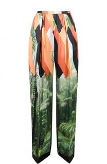 Широкие брюки с защипами и принтом Dries Van Noten