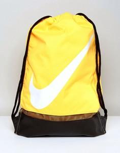Желтый рюкзак с затягивающимся шнурком и логотипом Nike BA5424-818 - Желтый