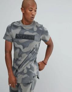 Серая футболка с камуфляжным принтом Nike Jordan 864925-004 - Серый
