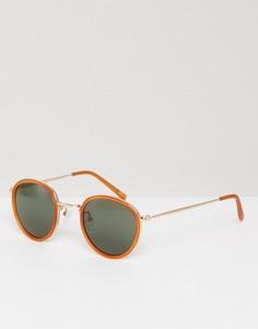 Круглые солнцезащитные очки ASOS - Оранжевый