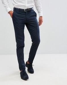 Строгие эластичные брюки скинни Selected Homme - Синий